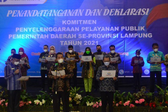 Bupati Tanggamus Hadiri Acara Yang Diadakan Oleh OMBUSMAN RI Perwakilan Lampung