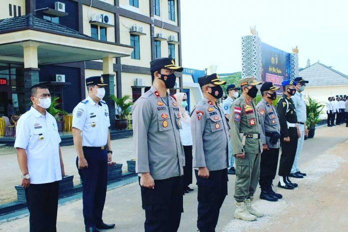 Walikota Metro Wahdi Pimpin Apel Pasukan Operasi Ketupat Krakatau 2021 Di Polres Metro