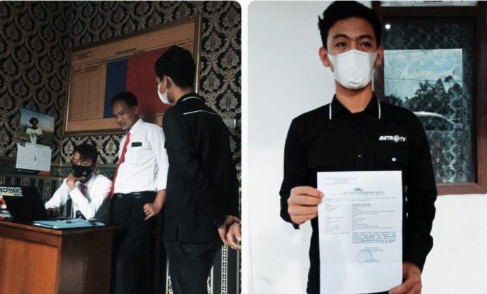 Mendapat Ancaman dan Intimidasi Saat Meliput, Wartawan Metro TV Lampung Melapor Ke Mapolres Lampung Barat