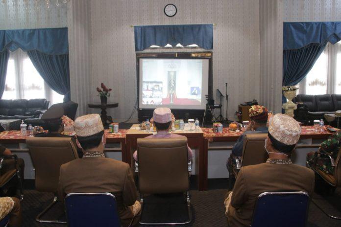 Bupati Lampung Utara,Hi.Budi Utomo,S.E.M.M.Mengikuti Peringatan hari lahir pancasila