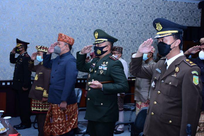 Bupati Tubaba Umar Ahmad SP Menghadiri Upacara Hari Lahir Pancasila