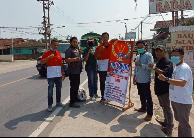 DPC PWRI Lampung Tengah adakan bakti Sosial menanggulangi Covid-19