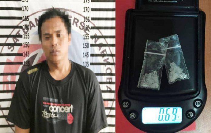 Nyambi Edarkan Narkotika, Seorang Petani Ditangkap Satresnarkoba Polres Tulang Bawang