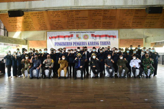Bupati Tubaba Umar Ahmad SP, Menghadiri Pengukuhan Pengurus Karunga Taruna