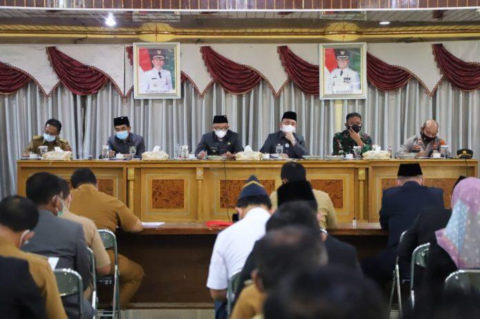Rapat Koordinasi (Rakor) Satuan Tugas Covid-19 di Lampung Barat