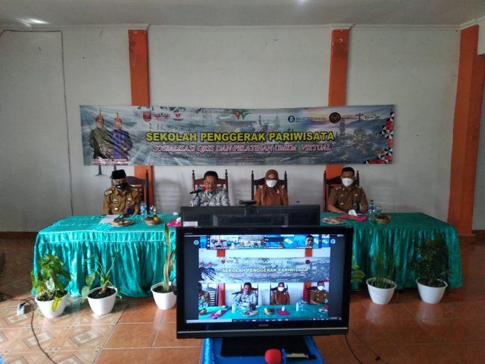 Disporapar Lampung Barat adakan Sosialisasi Sekolah Penggerak Pariwisata.