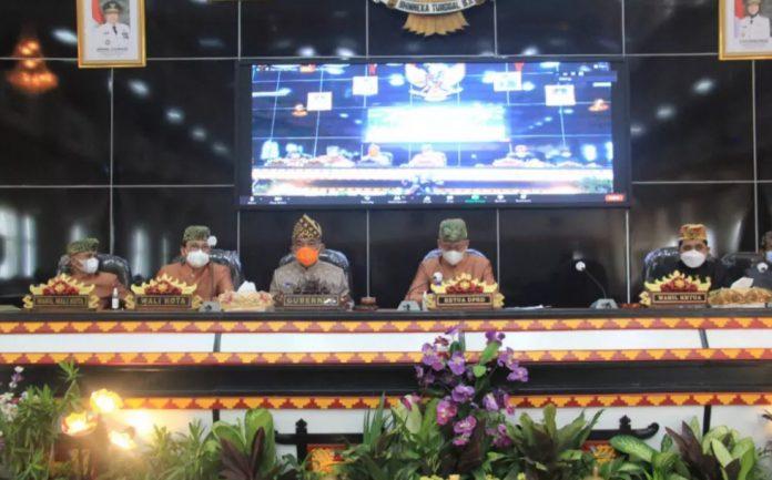 memperingati Hari Jadi Ke-84 Kota Metro, DPRD Kota Metro mengelar sidang Paripurna