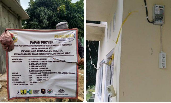 Lagi-lagi Pencurian Arus Listrik Terjadi Pada Pembangunan Pamsimas III 2021, Kali Ini Di Tiyuh Gilang Tunggal Makarta