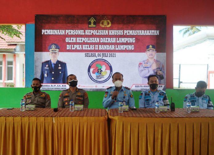 Lembaga Pembinaan Khusus Anak (LPKA) Bandar Lampung Mengikuti Pelatihan Pembinaan Kepolisian