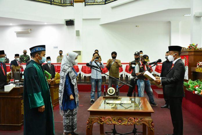 Sekdakab Tubaba Novriwansyah Menghadiri Rapat Paripurna Pengucapa Sumpah Jabatan Perganti Antar Waktu Anggota DPRD Tubaba