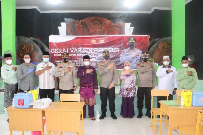 GERAI Vaksinasi Presisi di Sekitar Wilayah Kabupaten Lingga