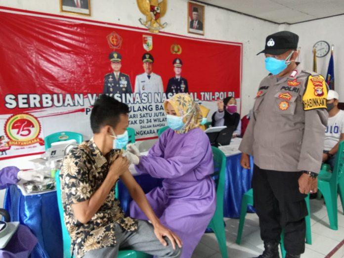 Polres Tubaba bersama Dinkes Gelar Vaksinasi Dosis Ke 2