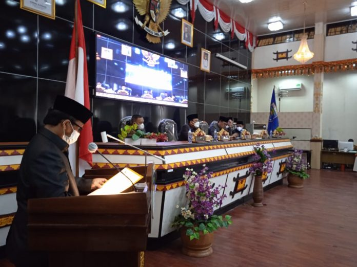 Dewan Perwakilan Rakyat Daerah Kota Metro menyetujui rancangan Kebijakan Umum Anggaran Perubahan (KUPA)