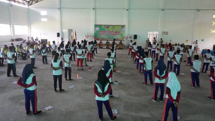 Wakil bupati Tulang Bawang Barat Fauzi Hasan membuka Acara Pemanduan Bakat Olahraga (Talent Scouting).